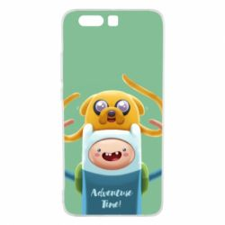 Чехол для Huawei P10 Plus Finn and Jake Art - FatLine