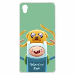 Чехол для Sony Xperia Z1 Finn and Jake Art - FatLine