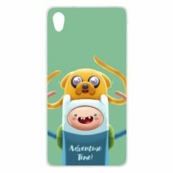 Чехол для Sony Xperia Z2 Finn and Jake Art - FatLine