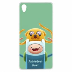 Чехол для Sony Xperia Z3 Finn and Jake Art - FatLine