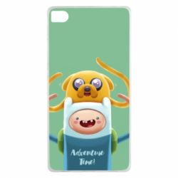 Чехол для Huawei P8 Finn and Jake Art - FatLine