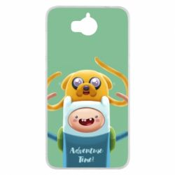 Чехол для Huawei Y5 2017 Finn and Jake Art - FatLine