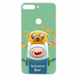 Чехол для Huawei Y7 Prime 2018 Finn and Jake Art - FatLine