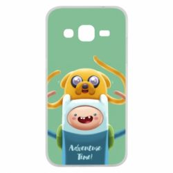 Чехол для Samsung J2 2015 Finn and Jake Art - FatLine