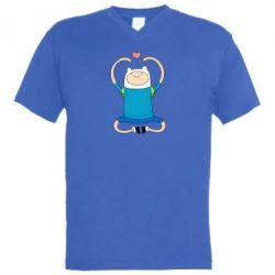 Мужская футболка  с V-образным вырезом Finn dancing - FatLine