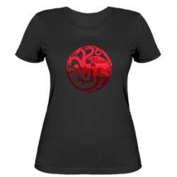 Женская футболка Fire and Blood