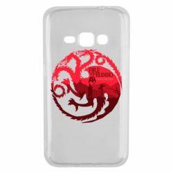 Чехол для Samsung J1 2016 Fire and Blood