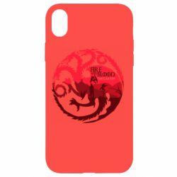 Чехол для iPhone XR Fire and Blood