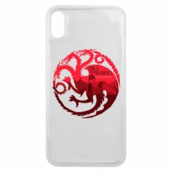 Чехол для iPhone Xs Max Fire and Blood