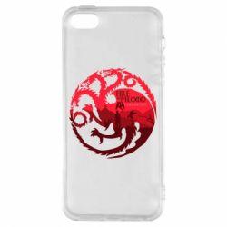 Чехол для iPhone5/5S/SE Fire and Blood