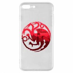 Чехол для iPhone 8 Plus Fire and Blood