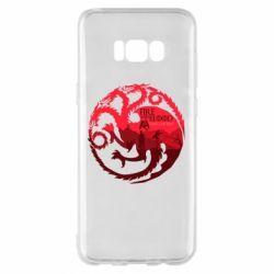 Чехол для Samsung S8+ Fire and Blood