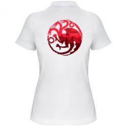 Женская футболка поло Fire and Blood