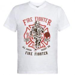Чоловіча футболка з V-подібним вирізом Fire Fighter