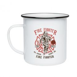 Кружка емальована Fire Fighter