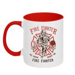 Кружка двоколірна 320ml Fire Fighter