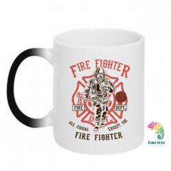 Кружка-хамелеон Fire Fighter