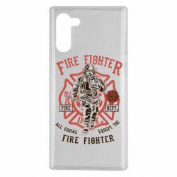 Чохол для Samsung Note 10 Fire Fighter