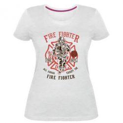 Жіноча стрейчева футболка Fire Fighter