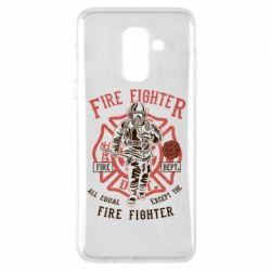 Чохол для Samsung A6+ 2018 Fire Fighter