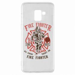 Чохол для Samsung A8+ 2018 Fire Fighter