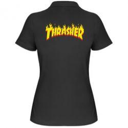 Женская футболка поло Fire Thrasher - FatLine