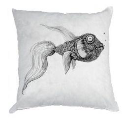 Подушка Fish consists of circle drawings