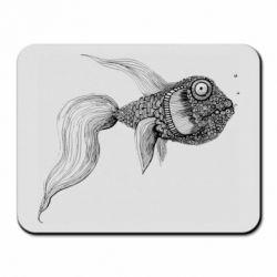 Коврик для мыши Fish consists of circle drawings