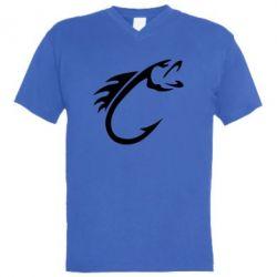 Чоловіча футболка з V-подібним вирізом Fish Hook
