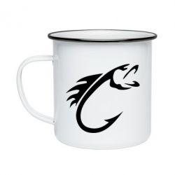 Кружка емальована Fish Hook