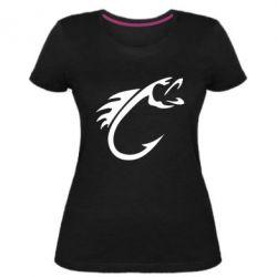 Жіноча стрейчева футболка Fish Hook