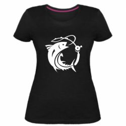 Жіноча стрейчева футболка Fish on the hook
