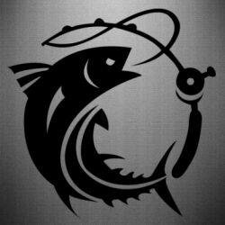 Наклейка Fish on the hook