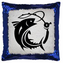 Подушка-хамелеон Fish on the hook