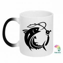 Кружка-хамелеон Fish on the hook