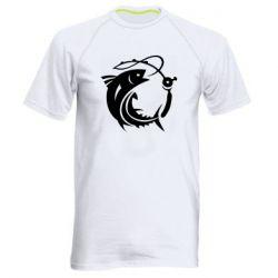 Чоловіча спортивна футболка Fish on the hook