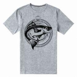 Чоловіча стрейчева футболка Fish