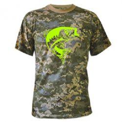 Камуфляжна футболка Fish