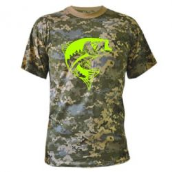 Камуфляжная футболка Fish