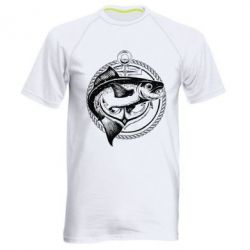 Мужская спортивная футболка Fish