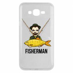 Чохол для Samsung J7 2015 Fisherman and fish