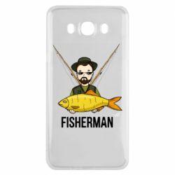 Чохол для Samsung J7 2016 Fisherman and fish