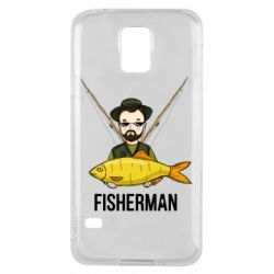 Чохол для Samsung S5 Fisherman and fish