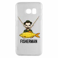 Чохол для Samsung S6 EDGE Fisherman and fish