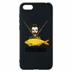 Футболка Поло Fisherman and fish
