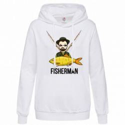Толстовка жіноча Fisherman and fish