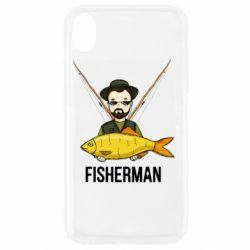 Чохол для iPhone XR Fisherman and fish