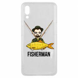 Подовжена футболка Fisherman and fish