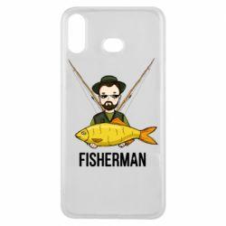 Чохол для Samsung A6s Fisherman and fish