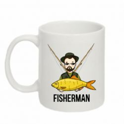 Кружка 320ml Fisherman and fish